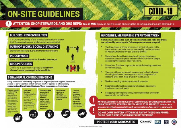 On-Site Guidelines for shop stewards and delegates